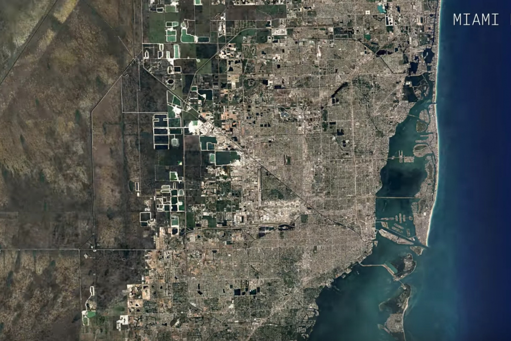 Watch A Google Maps Time-Lapse Of Miami's Growth Over 32 Years - Miami Florida Google Maps