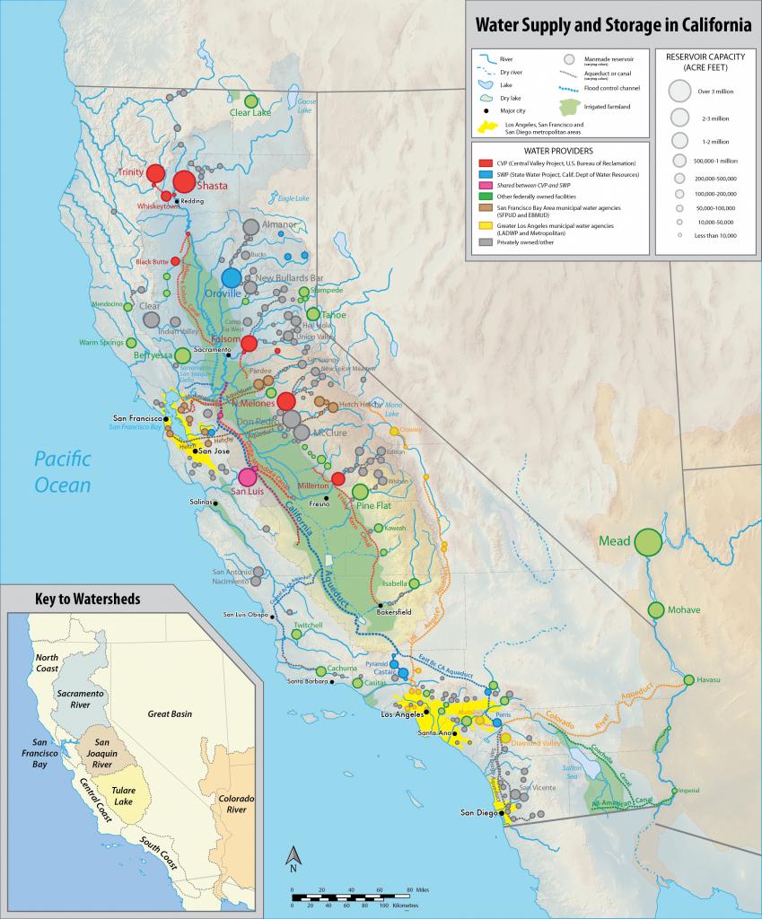 Water In California - Wikipedia - California Water Map