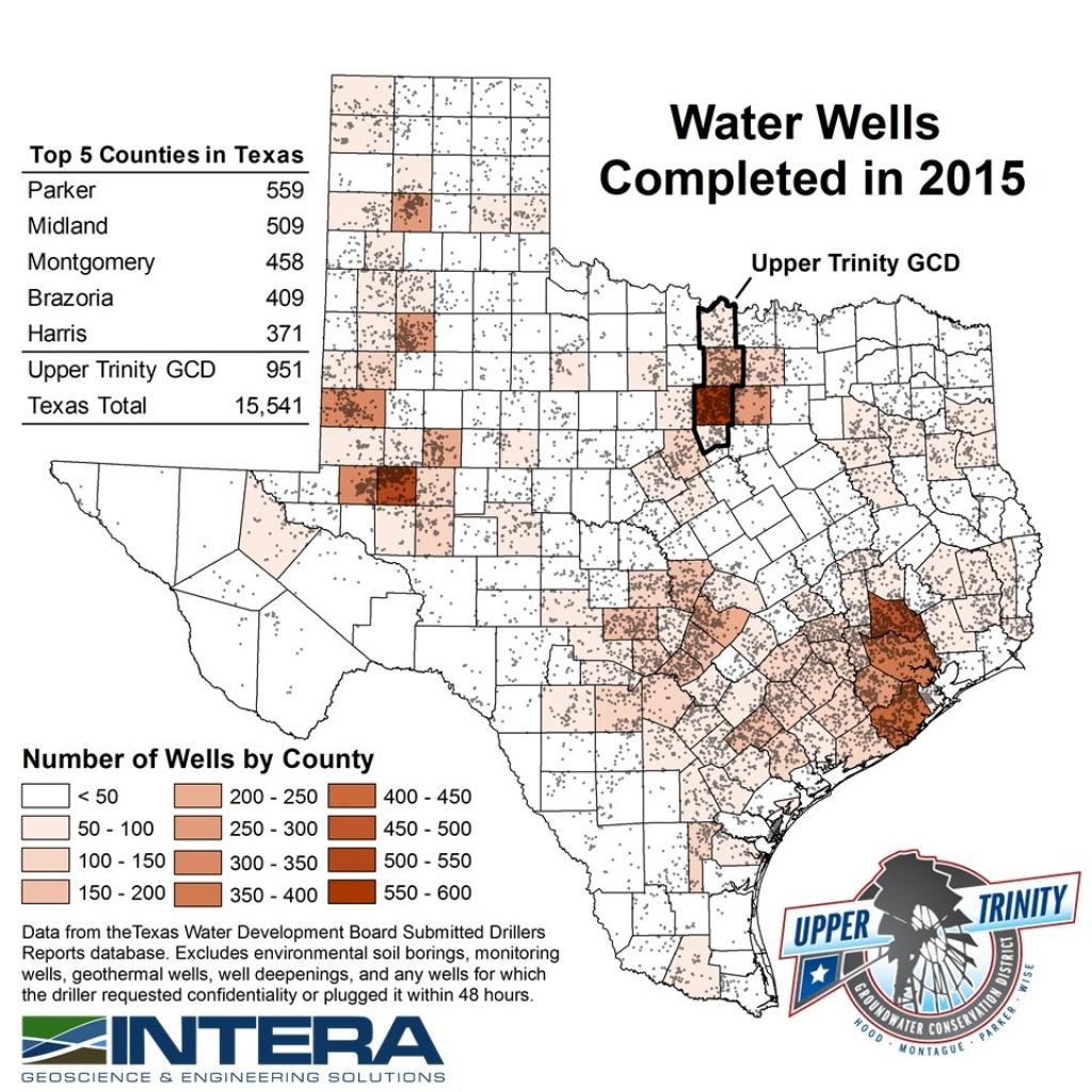 Water Well Reportcounty - Upper Trinity Groundwater Conservation - Texas Water Development Board Well Map