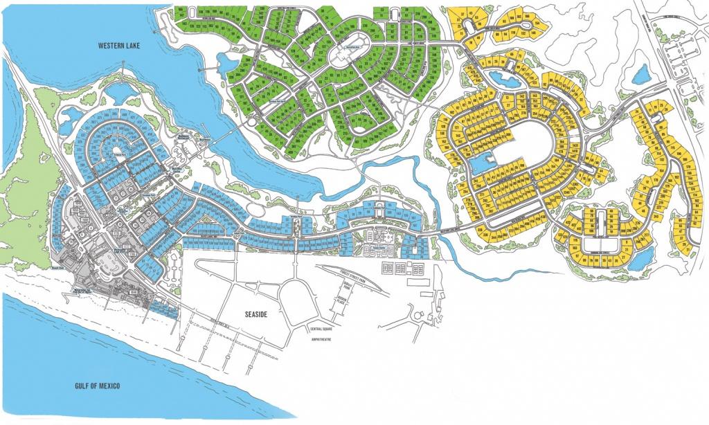 Watercolor Map Florida   Beach Group Properties - Map Of Watercolor And Seaside Florida