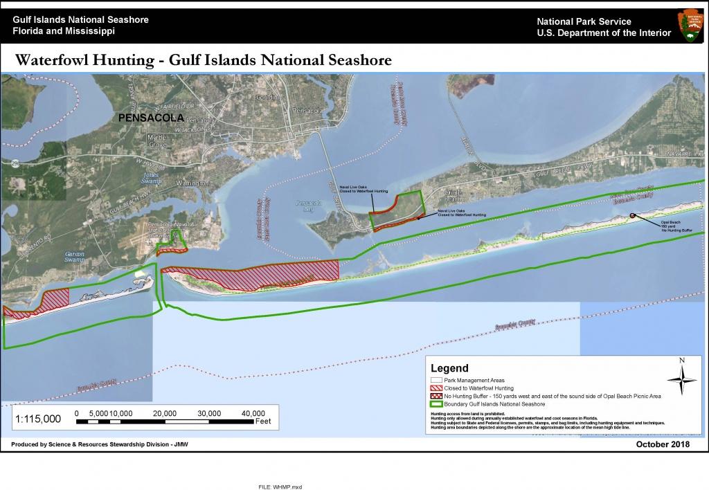 Waterfowl Hunting Regulations - Gulf Islands National Seashore (U.s. - Florida Gulf Islands Map