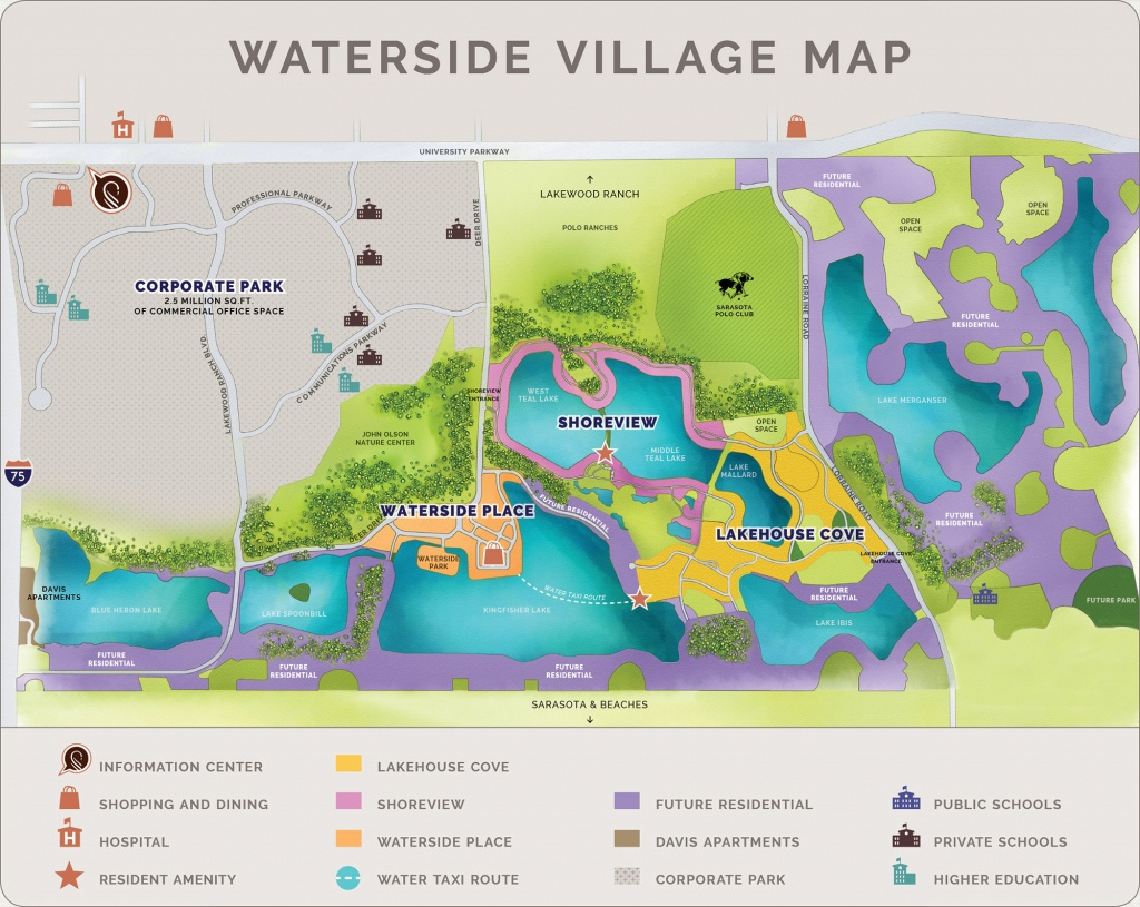 Waterside At Lakewood Ranch | Community - Lakewood Ranch Map Florida