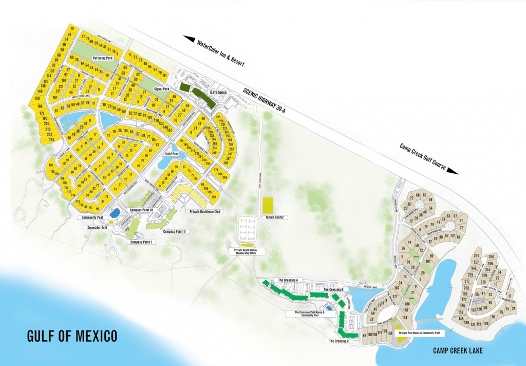 Watersound Florida Map   Beach Group Properties - Inlet Beach Florida Map