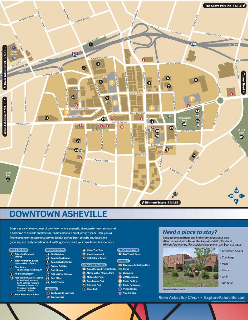 Wayfinding Downtown Map_Thumbnail | Asheville, Nc | Asheville Nc Map - Printable Map Of Asheville Nc