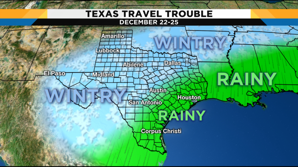 Weather Forecast Leading Into Christmas Hints At Travel - Texas Weather Map