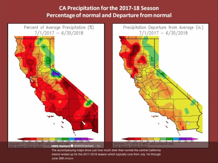 Weather Heat Map California