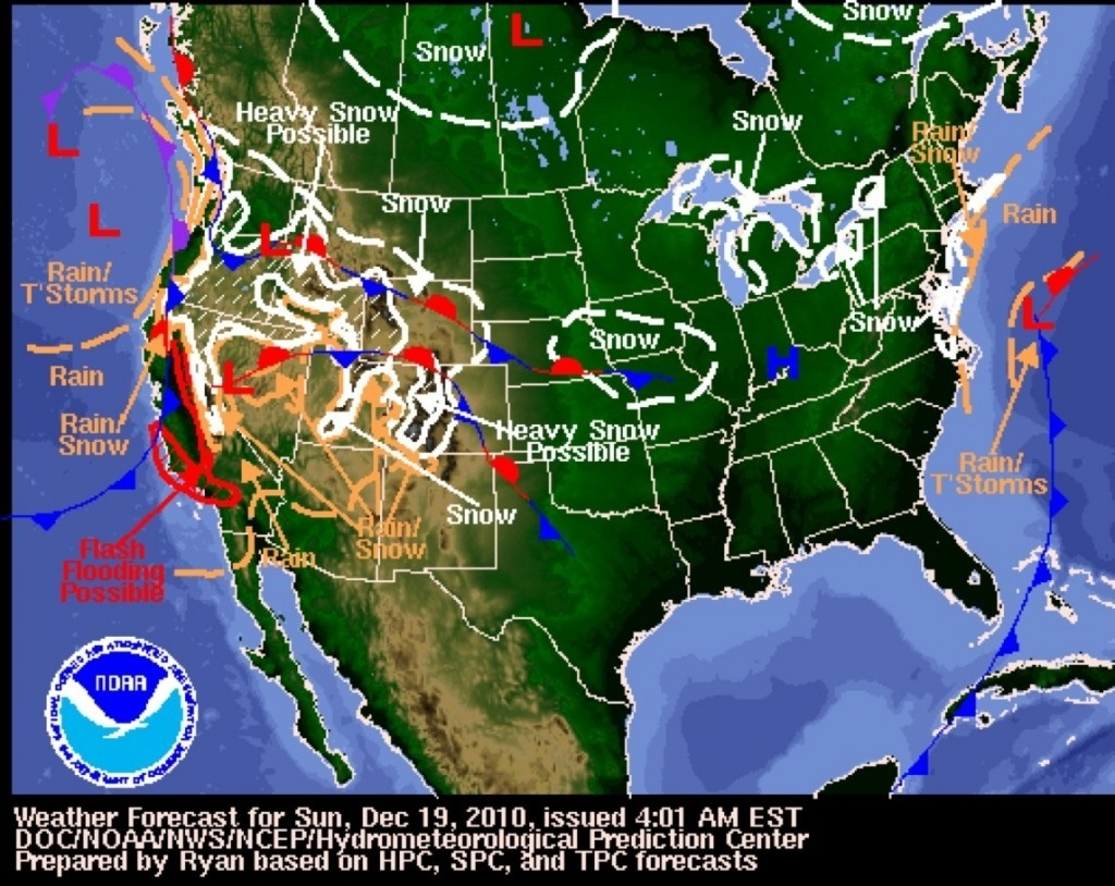 Weather Map For Los Angeles California – Map Of Usa District - California Weather Map