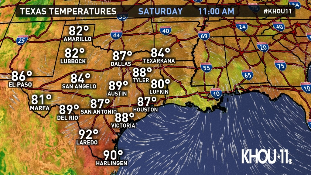 Weather Maps On Khou In Houston - Texas Weather Map