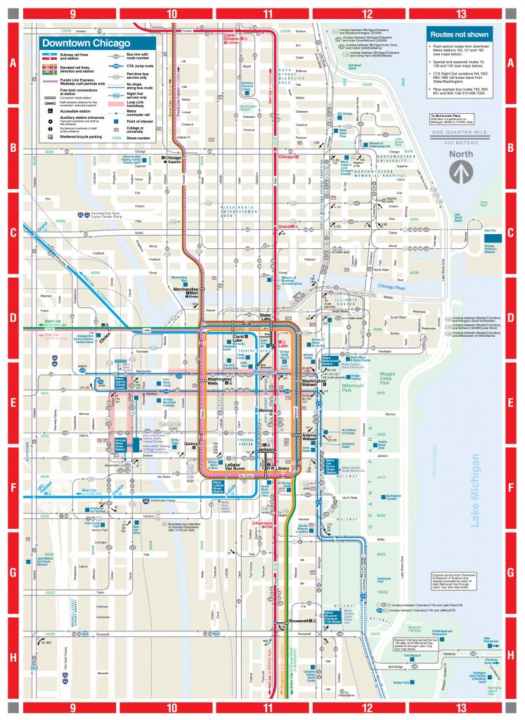 Web-Based Downtown Map - Cta - Chicago Loop Map Printable