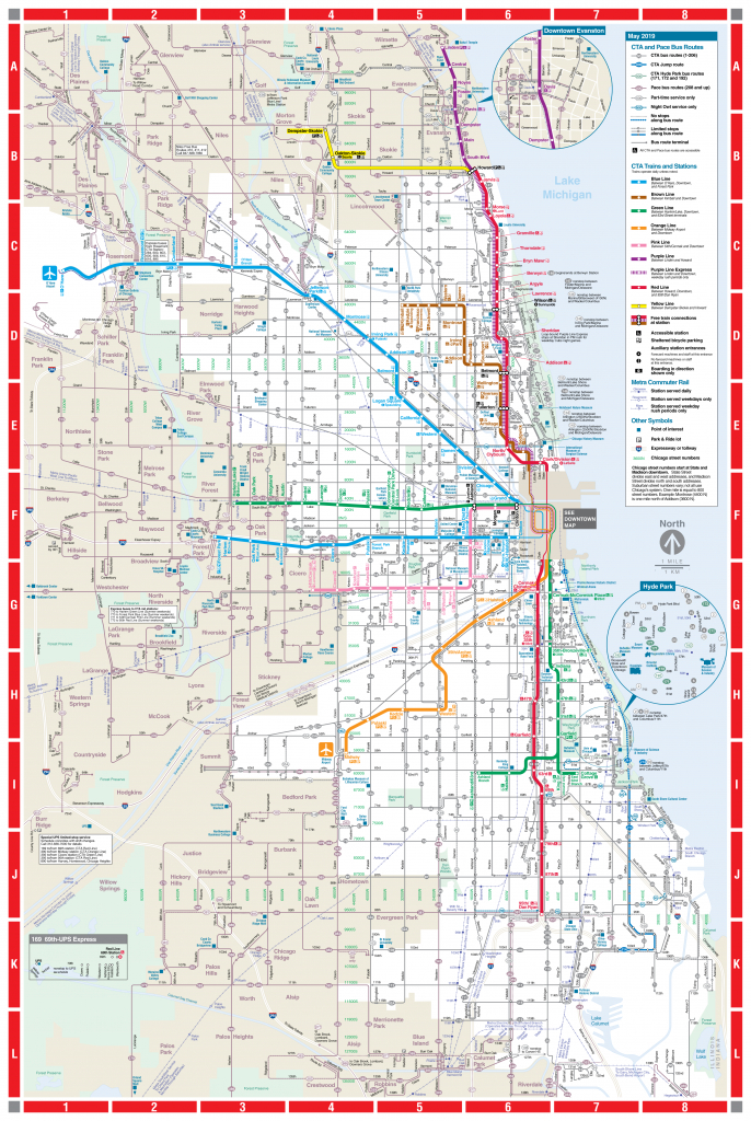 Web-Based System Map - Cta - Chicago City Map Printable