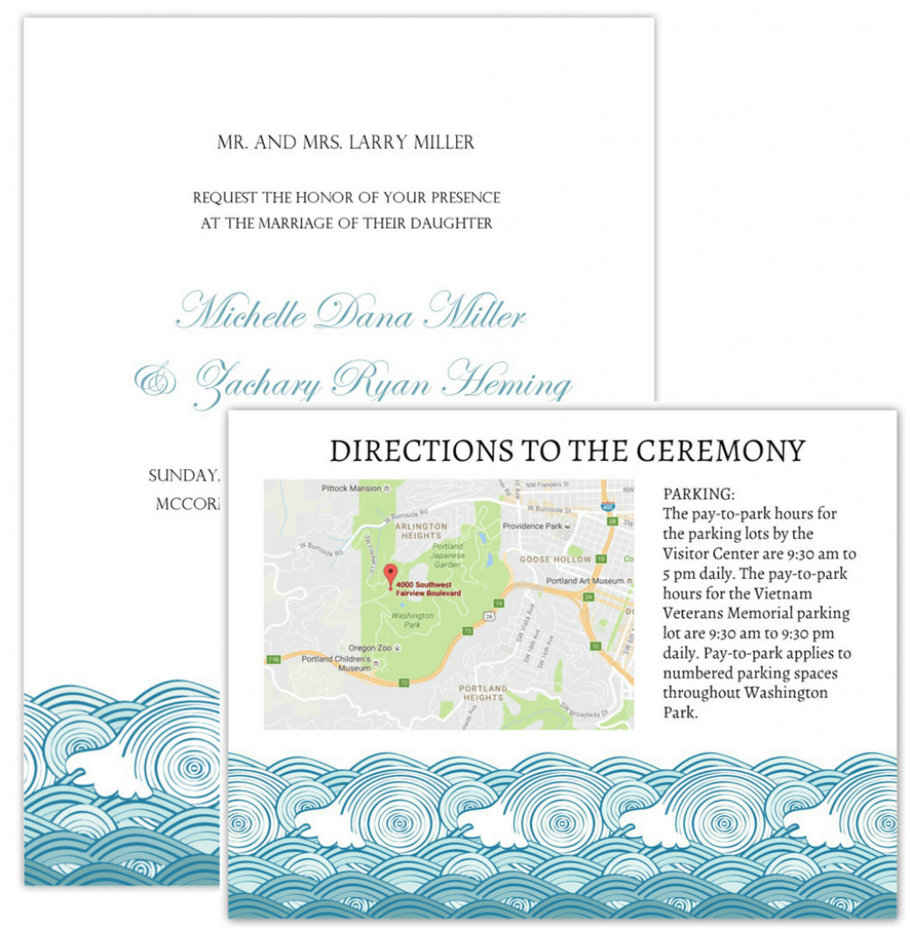 Wedding Invitation Maps - Printable Maps For Wedding Invitations Free