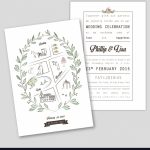 Wedding Invitation Template With Map Royalty Free Vector   Printable Maps For Wedding Invitations Free