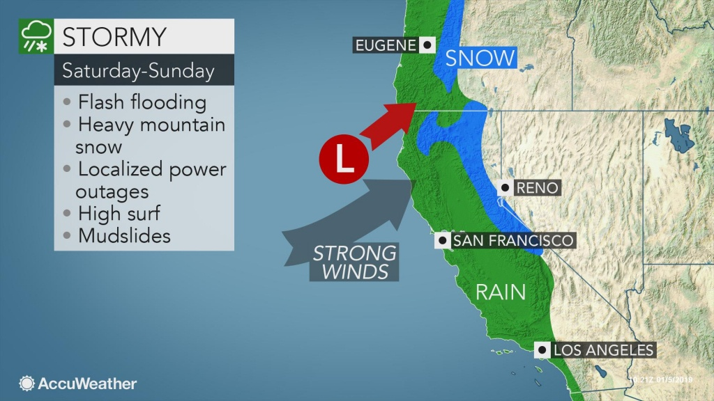 Weekend Storm To Be Start Of Pacific Storm Parade Along Us West Coast - Northern California Radar Map
