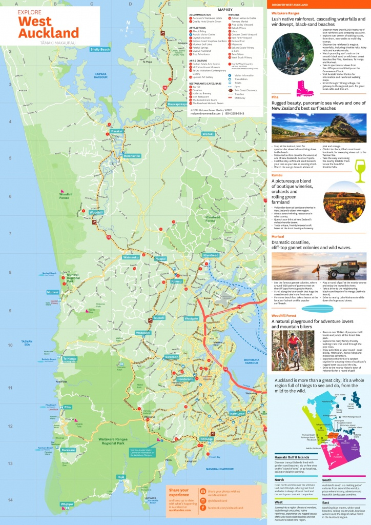 West Auckland Tourist Map - Printable Map Of Auckland