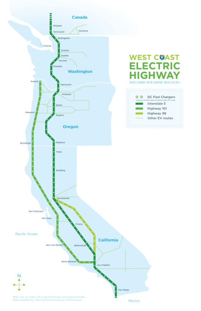 West Coast Green Highway: West Coast Electric Highway - California Electric Car Charging Stations Map