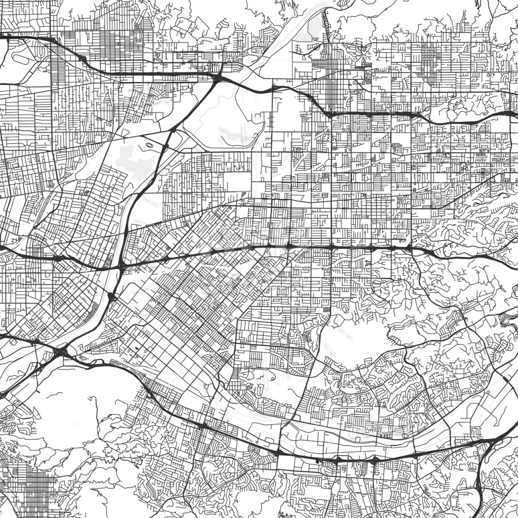 West Covina, California - Area Map - Light - West Covina California Map