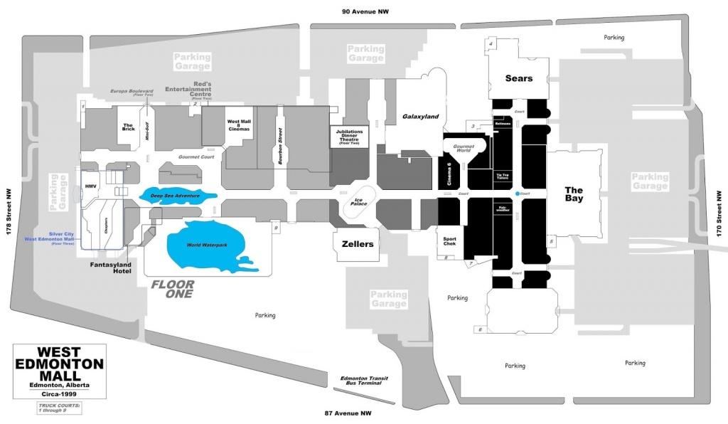 West Edmonton Mall   Renovations - Page 49 - Printable West Edmonton Mall Map