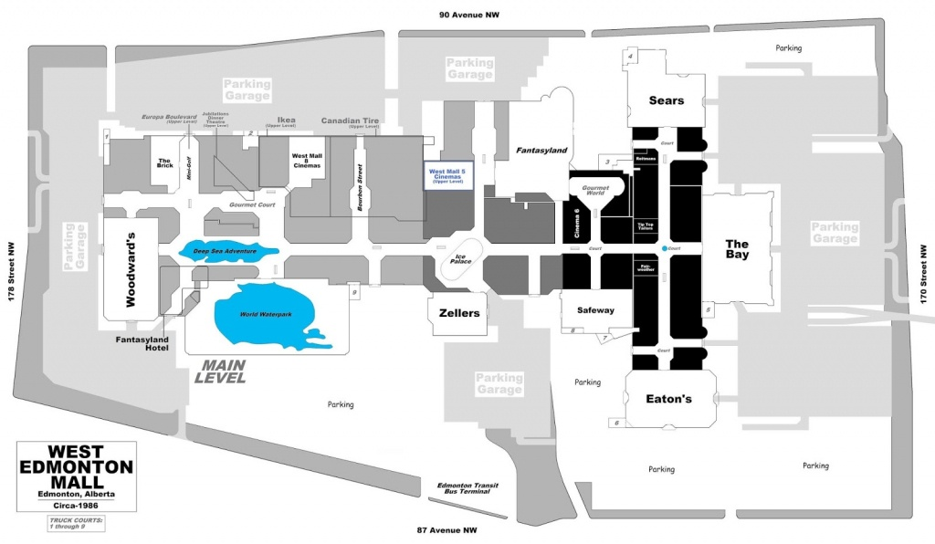 West Edmonton Mall   Renovations - Page 49 - West Edmonton Mall Map Printable