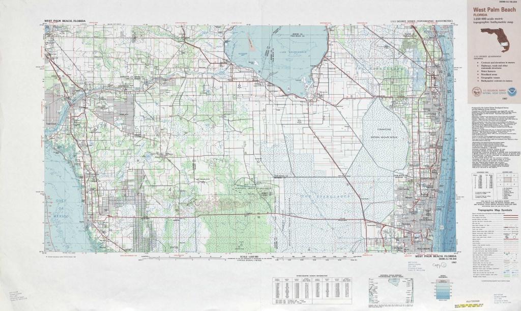 West Palm Beach Topographic Maps, Fl - Usgs Topo Quad 26080A1 At 1 - Usgs Topographic Maps Florida