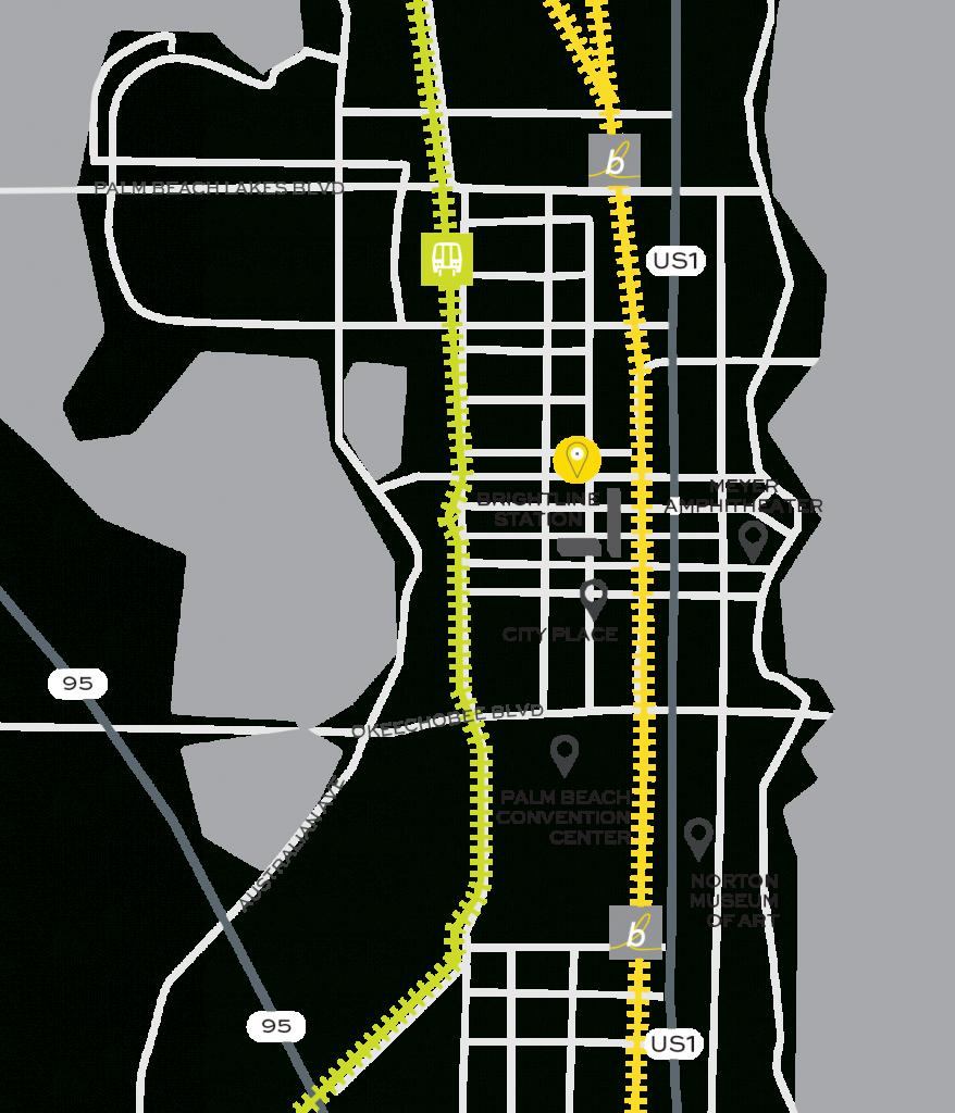 West Palm Beach Train Station | Brightline - Florida Brightline Map
