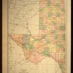 West Texas Map Of Texas Wall Art Decor Large Antique Western Wedding   Large Texas Wall Map