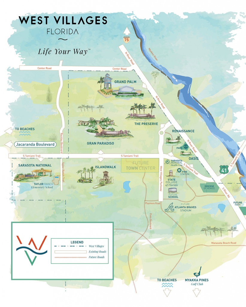West Villages Florida Map - Map Of West Villages Florida - The Villages Florida Map