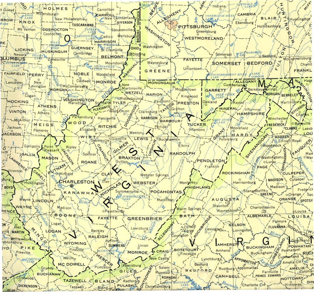 West Virginia Maps - Perry-Castañeda Map Collection - Ut Library Online - Printable Map Of West Virginia