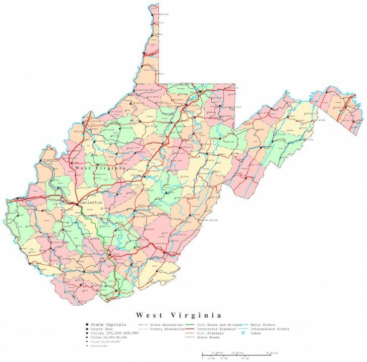 Printable Map Of West Virginia