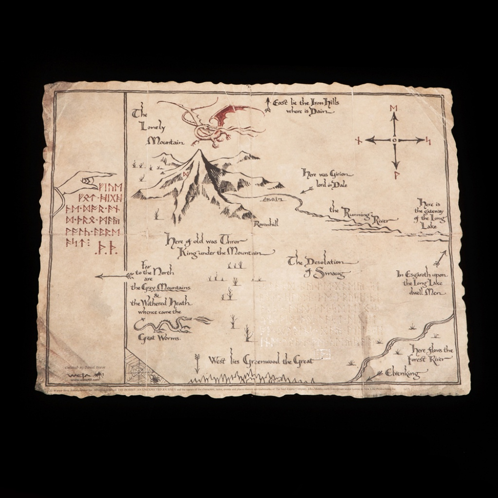 Weta Workshop - Thror's Map Printable