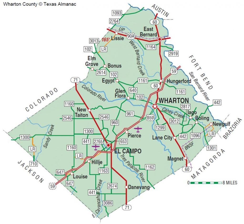 Wharton County | The Handbook Of Texas Online| Texas State - Map Of Matagorda County Texas