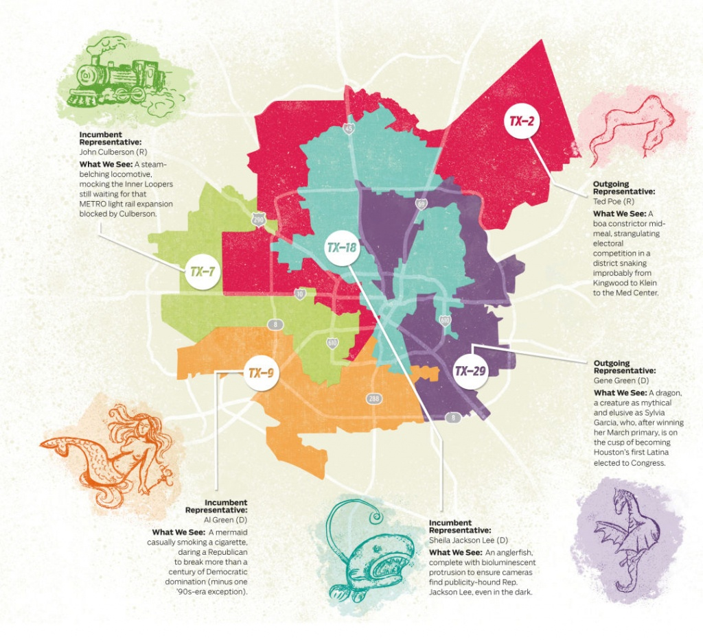 What We See When We Look At Houston's Gerrymandered Congressional - Texas Congressional Map