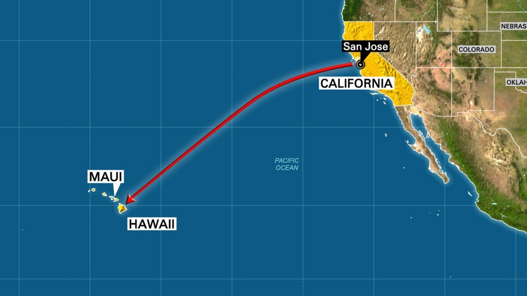 When I Was A Little Bit Older, We Moved From Hawaii To California - Hawaii California Map