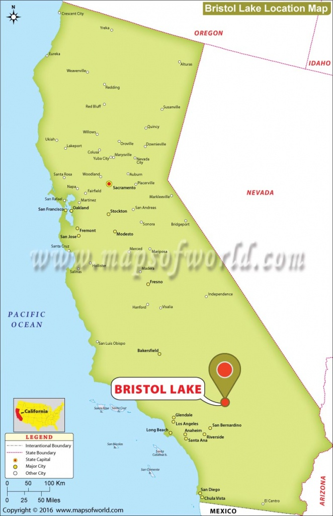 Where Is Bristol Lake, California - Where Can I Buy A Map Of California