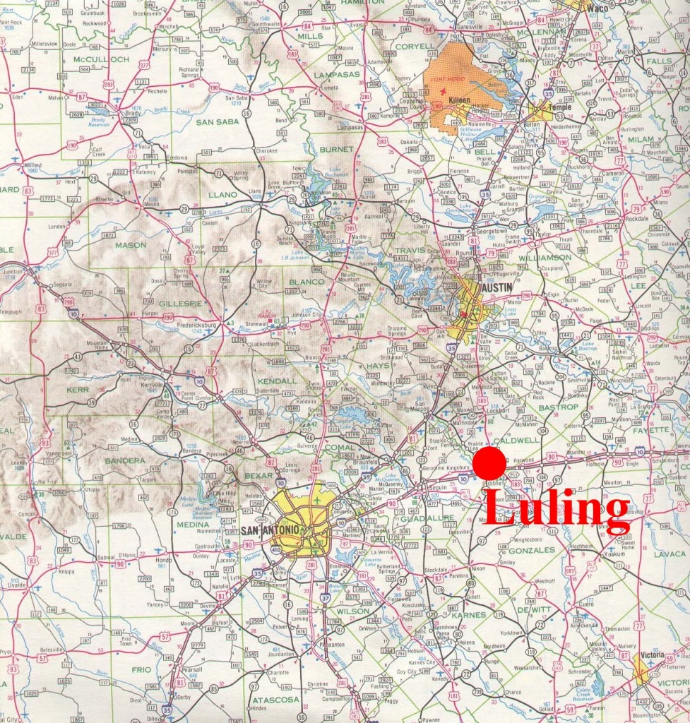 Where Is Luling Texas On A Map | Business Ideas 2013 - Luling Texas Map