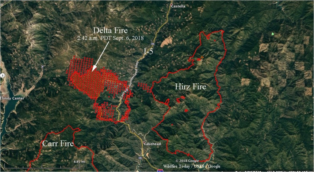 Where Is Redding California On Map Wildfire Today D On Twitter - Redding California Fire Map