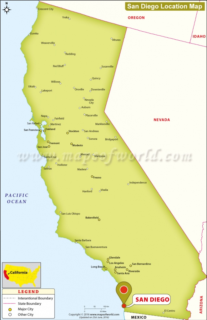 Where Is San Diego Located In California, Usa - City Map Of San Diego California