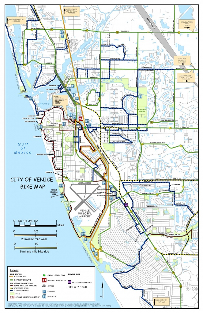 Where To Ride   Bicycles International   Bike Sales & Repair - Map Of South Venice Florida