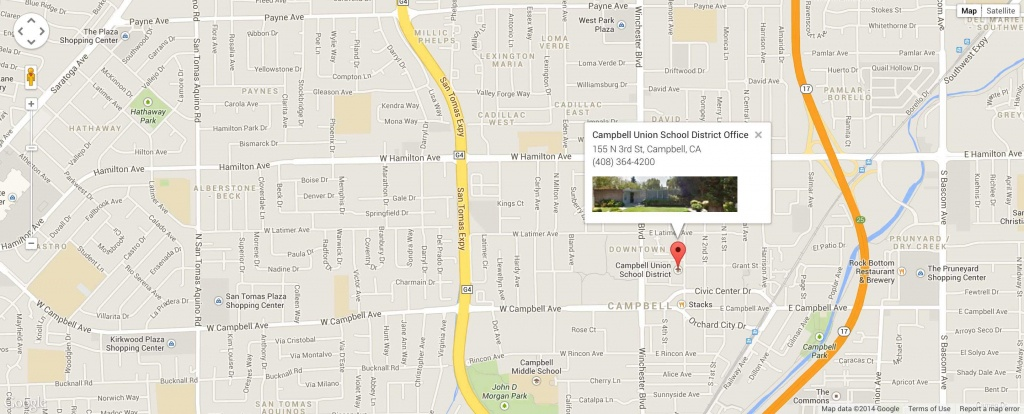 Where We Are   Campbell Union School District - Campbell California Map