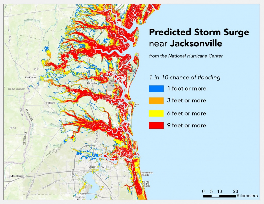 Where Will Hurricane Matthew Cause The Worst Flooding? | Temblor - Florida Flood Map
