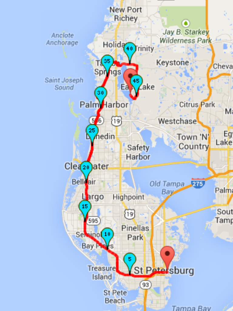 Why I Love Ultras: The 2014 Pinellas Trail Challenge   Dave Krupski - Pinellas Trail Map Florida