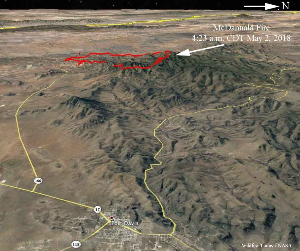 """Wildfire Today 🔥 On Twitter: """"#mcdannaldfire Is Very Active West Of - Texas Active Fire Map"""