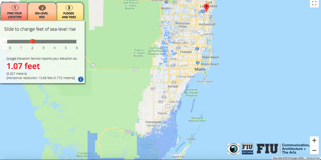 Will Flooding From Sea-Level Rise Impact Your House? This App Lets - Florida Sea Level Map