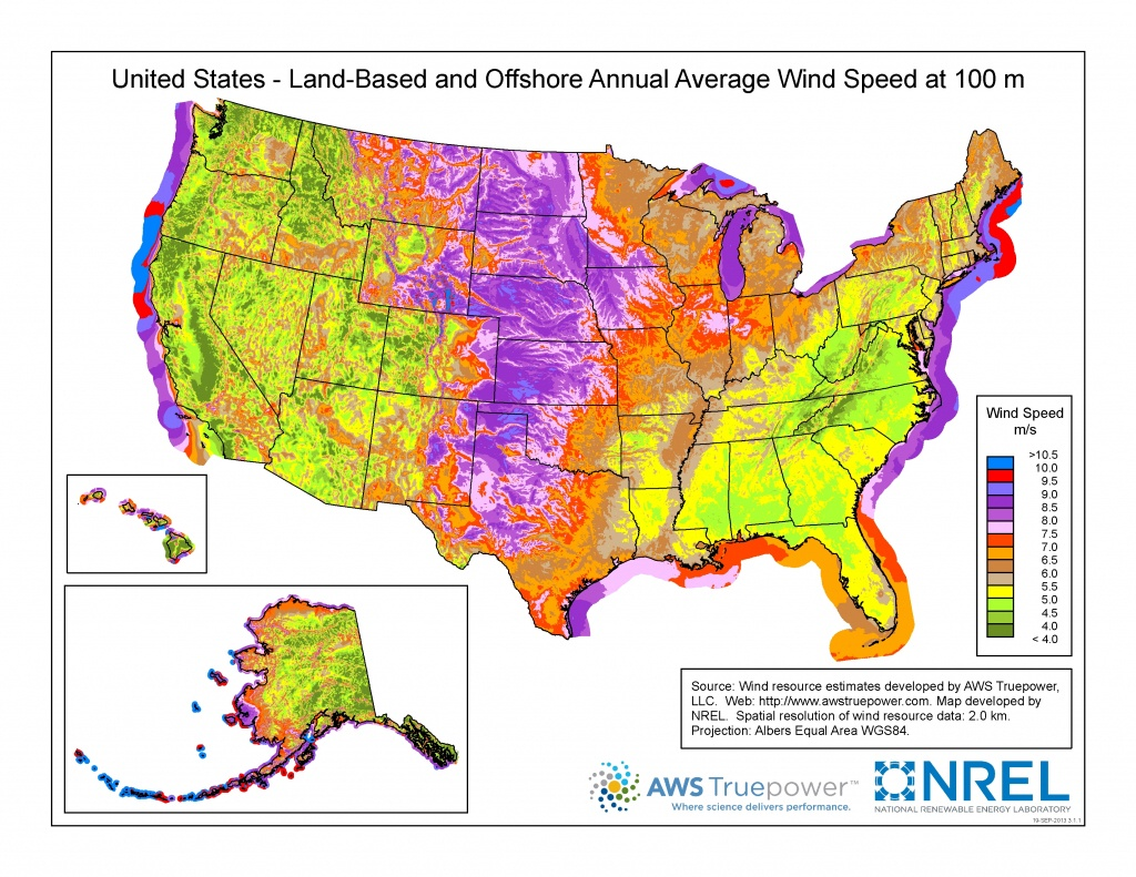 Wind Maps | Geospatial Data Science | Nrel - Texas Wind Direction Map