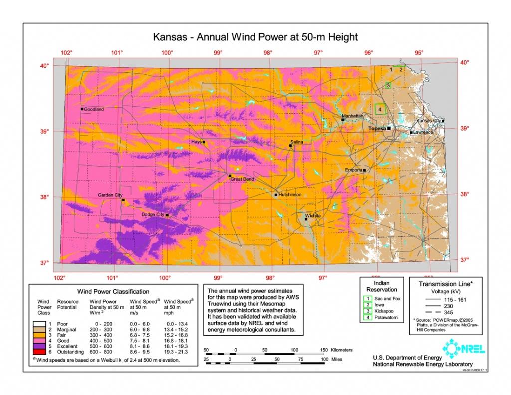 Wind Power In Kansas - Wikipedia - Wind Farms Texas Map
