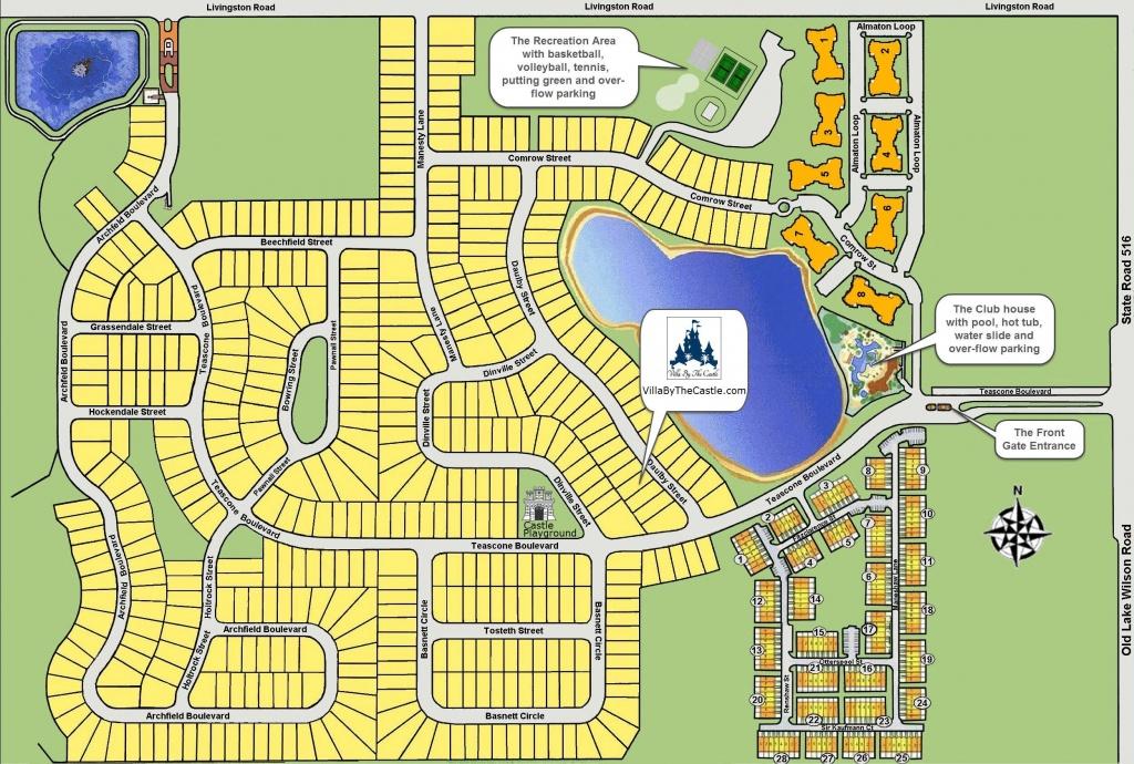 Windsor Hills Resort Map Layout - Villathe Castle - Florida Resorts Map