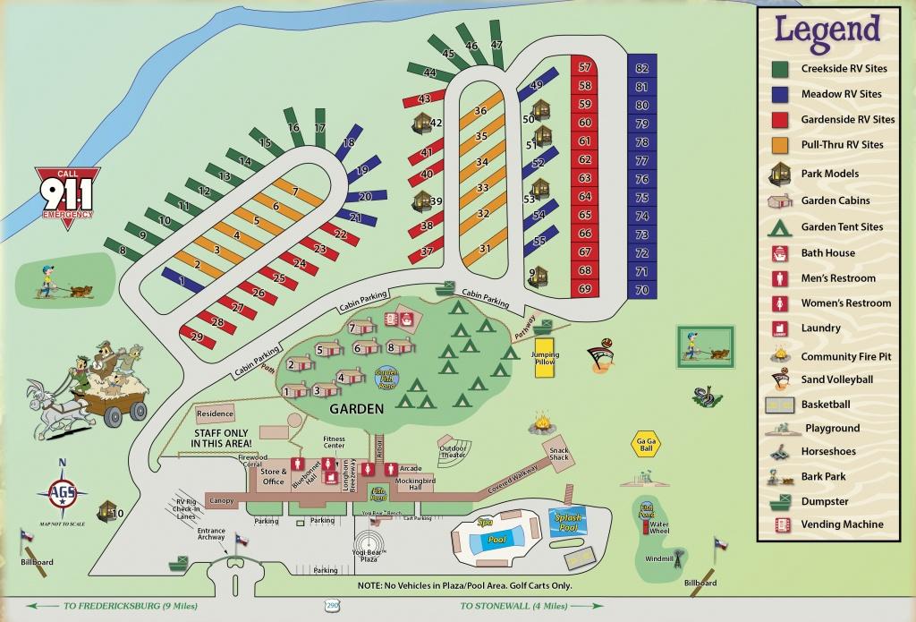 Wine Country Area Camping In Texas   Yogi Bear's Jellystone Park - Fredericksburg Texas Winery Map