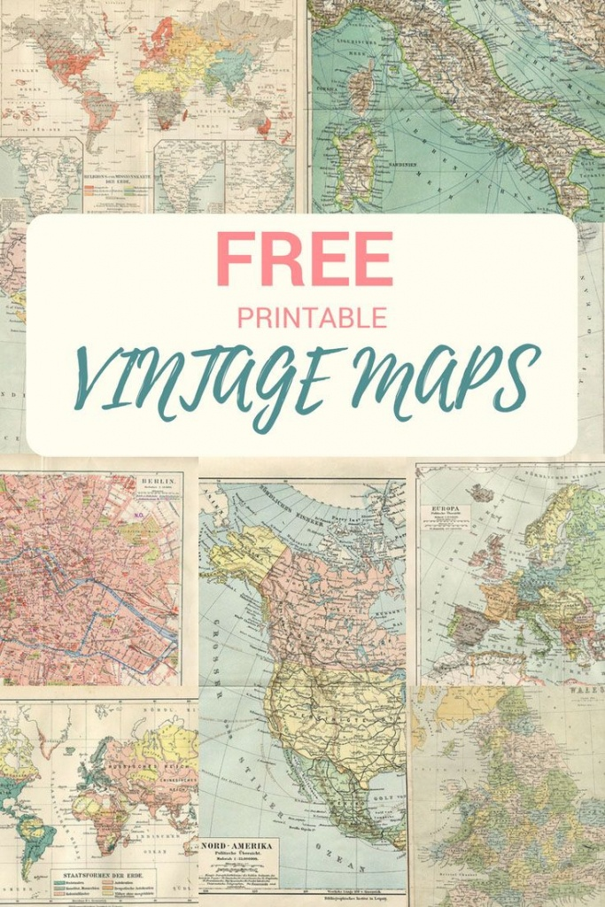 Wonderful Free Printable Vintage Maps To Download | Papercrafts - Free Printable Vintage Maps