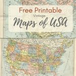 Wonderful Free Printable Vintage Maps To Download   Pillar Box Blue   Free Printable Vintage Maps