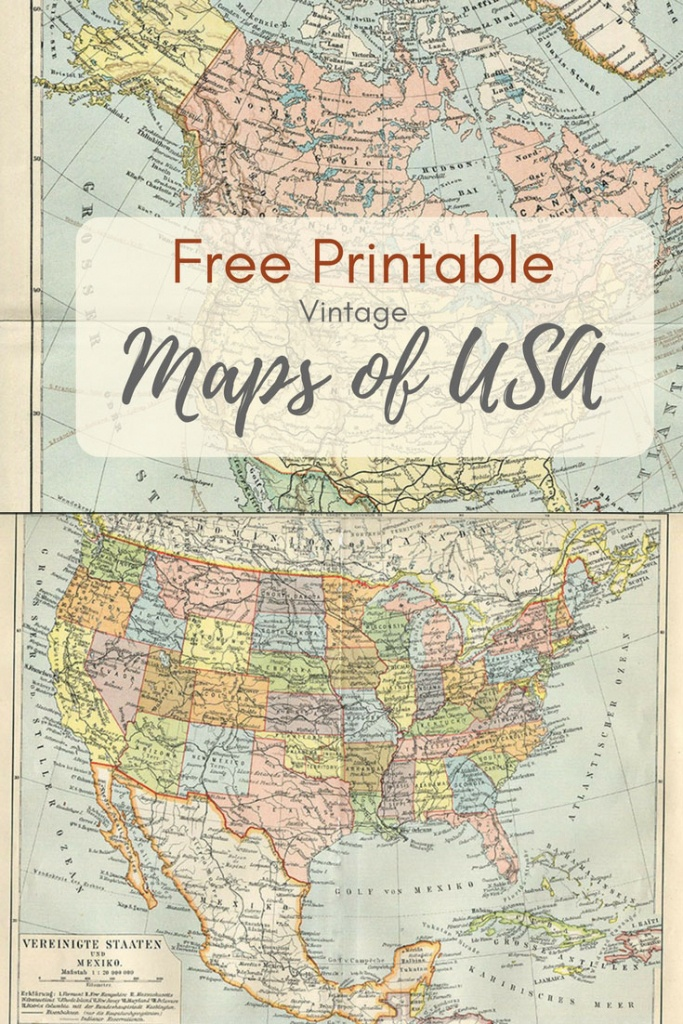 Wonderful Free Printable Vintage Maps To Download - Pillar Box Blue - Free Printable Vintage Maps