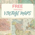 Wonderful Free Printable Vintage Maps To Download   Pillar Box Blue   How To Make A Printable Map